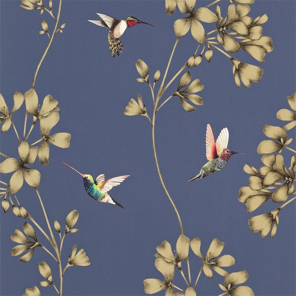 Colibr carta da parati a fiori ed uccelli italian for Carta da parati con fiori