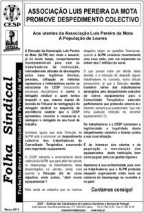 Associação Luís Pereira da Mota promove despedimento colectivo