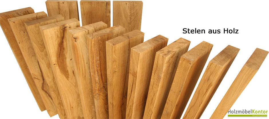 Stelen aus Holz - massive Eiche