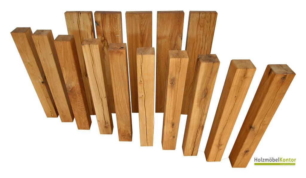 Holzsäulen - massive Eiche