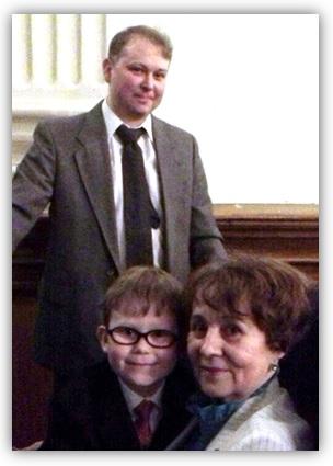 Муж с сыном и бабушкой на Вечери