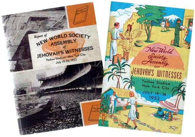 «Отчёт о конгрессе» и программа конгресса 1953 года с видами нового мира