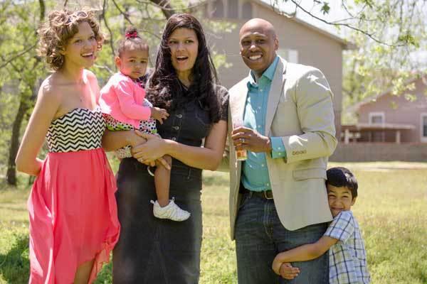 Стефани с мужем Терри и семьей