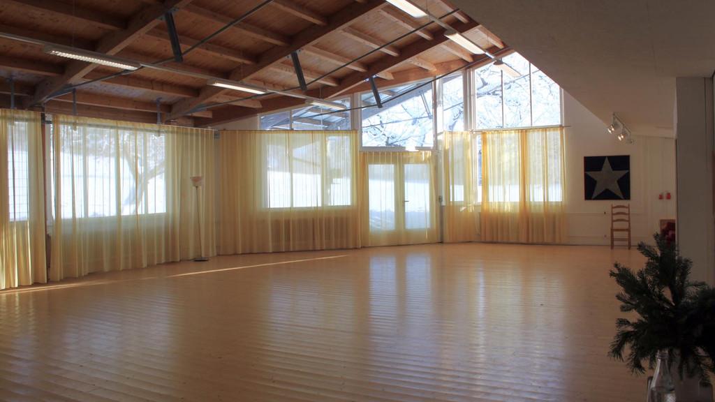 Der Tanztherapieraum im Werkstattgebäude