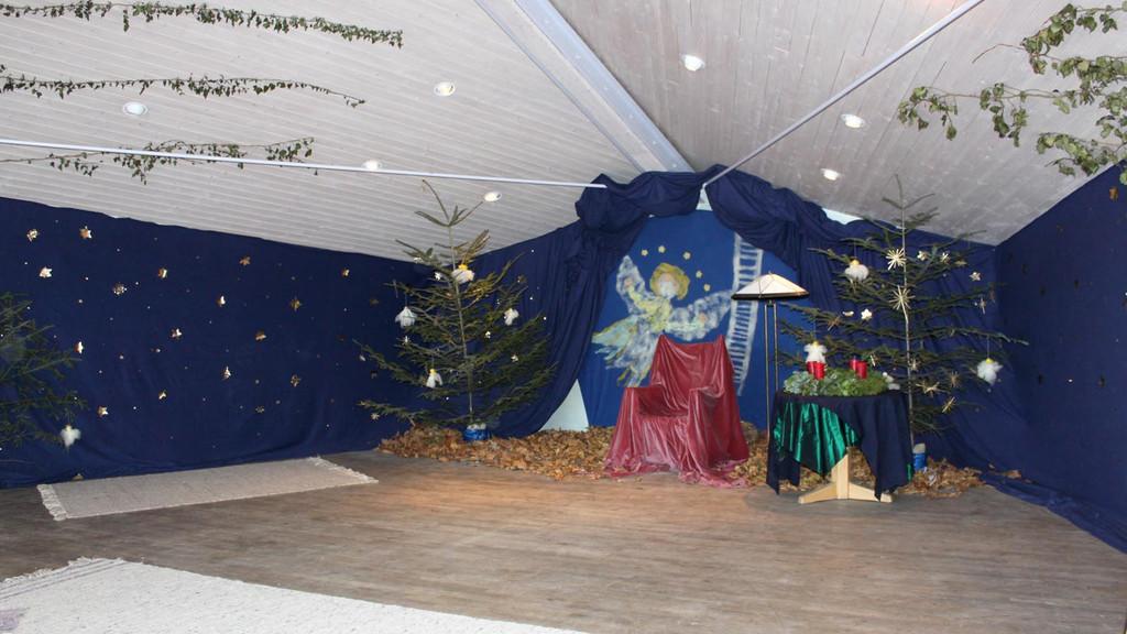 Die Gaube im Haupthaus - weihnachtlich dekoriert