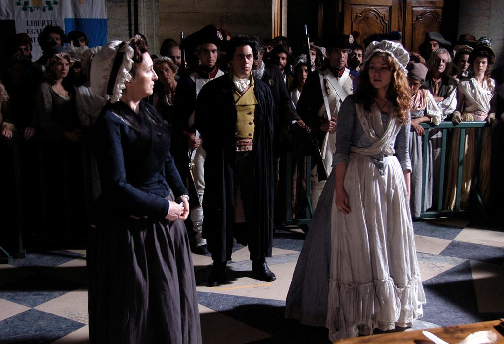 Simone et Charlotte Corday au procès