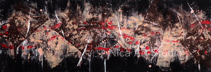 Just colors  No. 2 (Hauttöne), 2021, 59,3 x 21 cm, Acrylmalerei auf Papier
