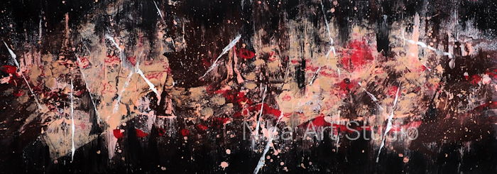 Just colors  No. 1 (Hauttöne), 2021, 59,3 x 21 cm, Acrylmalerei auf Papier