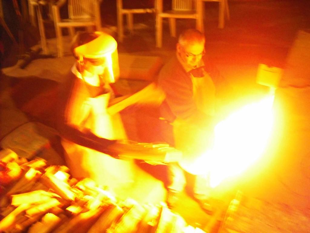 2010 cuisson du four d'Arlette Legros près de Huy