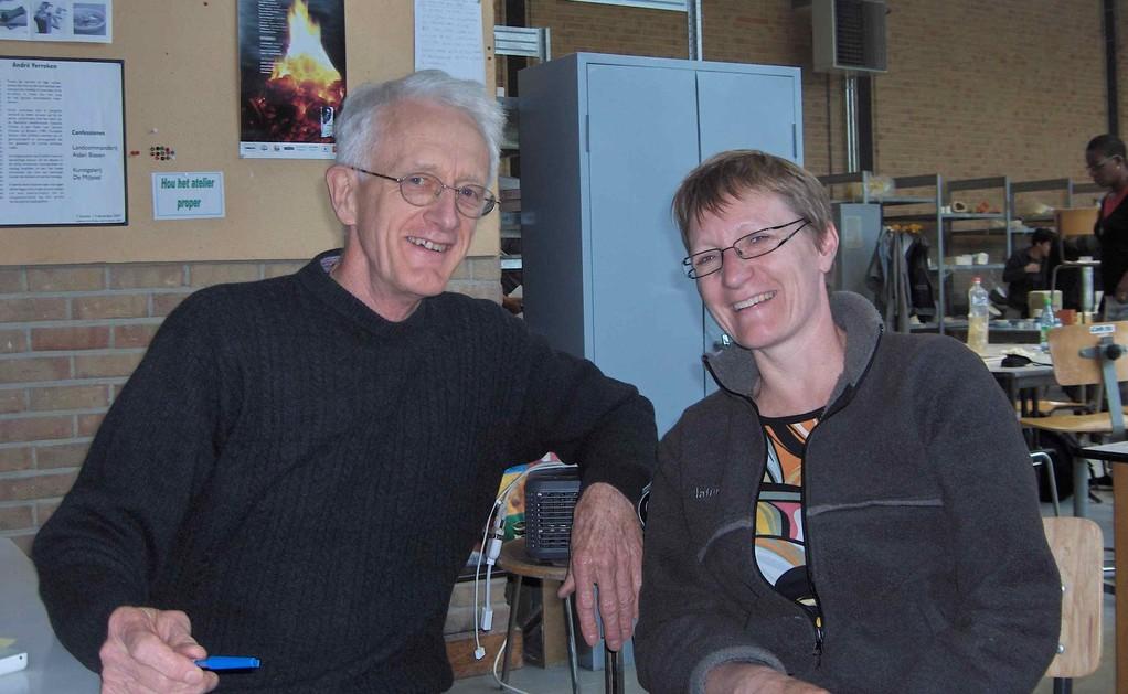 Avec Ian Currie, dans l'atelier de Frans Gregoor