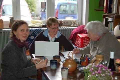 Calcul d'émaux, avec Christiane Lebrun et Pascaline Wollast