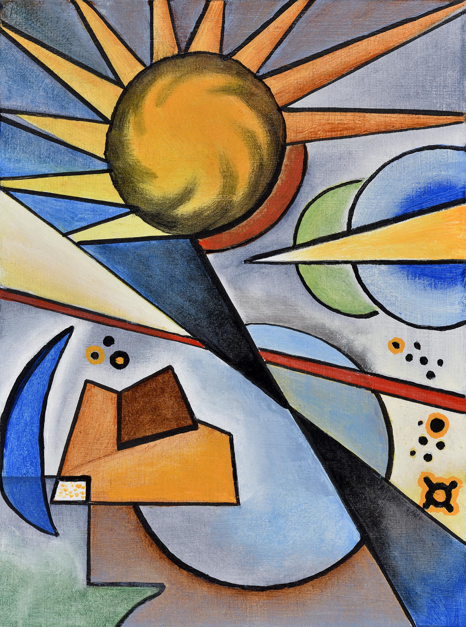 """""""Mini composition VII"""" - Öl auf Leinwand - 19x12 cm"""
