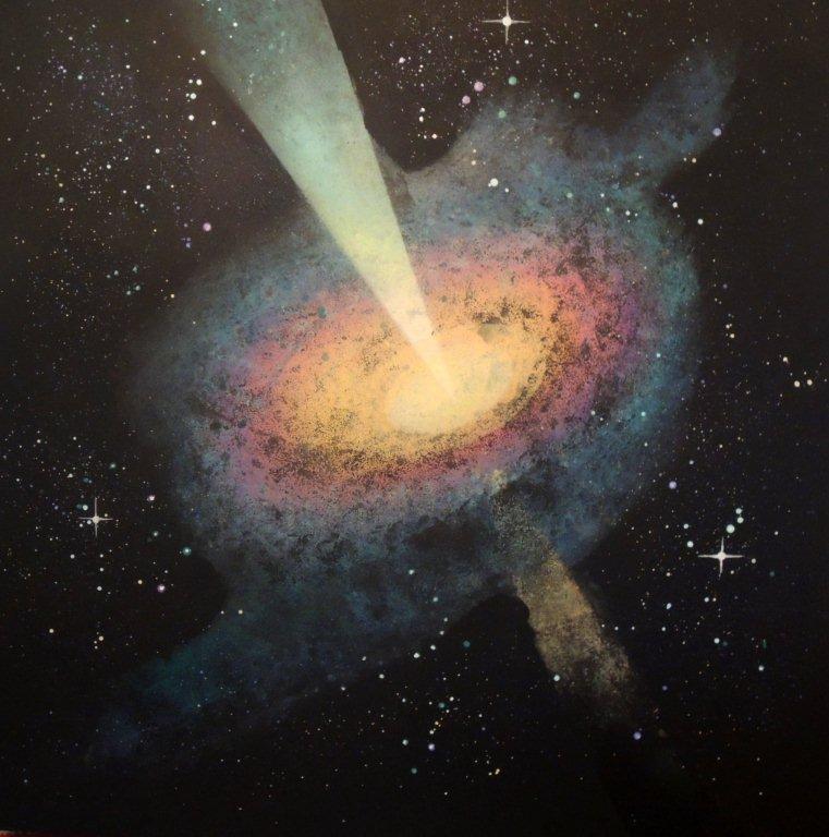 """""""Nr. 10 aus Charon"""" - Pigmente auf Hartfaser - 140x140 cm"""