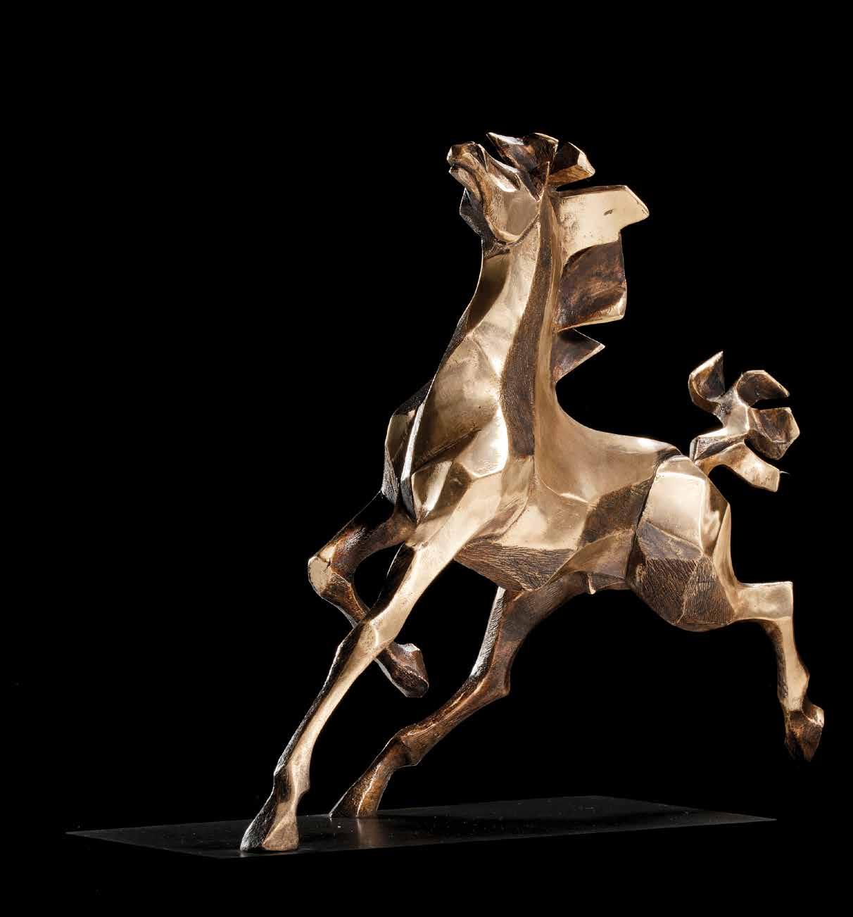 """""""Veloci inclinazioni"""" - Bronze - 26,5x33x13 cm"""