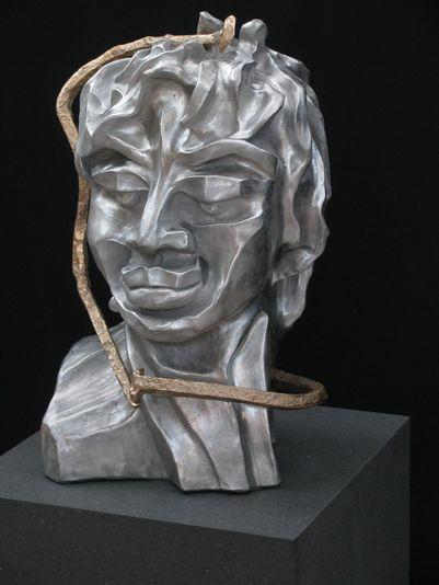 """""""Der Macher"""" 2007 - Aluminium und Bronze - 47 cm"""