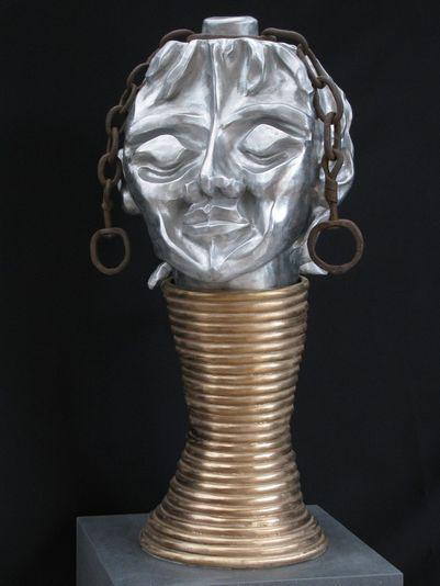 """""""Afrikanischer Traum"""" 2008 - Aluminium, Bronze und Eisen - 72 cm"""