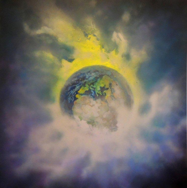 """""""Nr. 9 aus Charon"""" - Pigmente auf Hartfaser - 130x130 cm"""