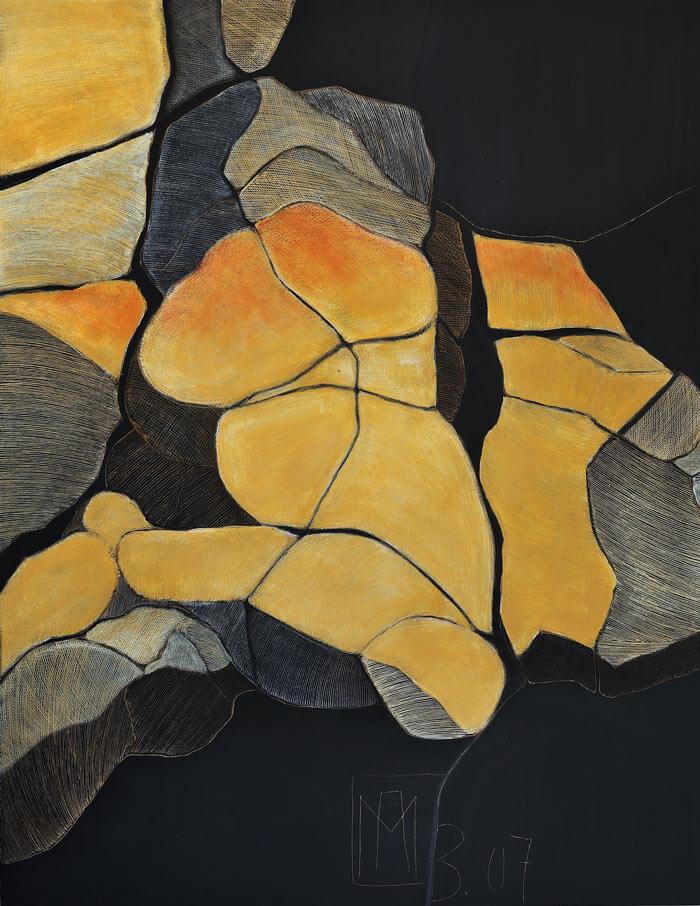 2007 Ritztechnik auf Holz - 125x96 cm