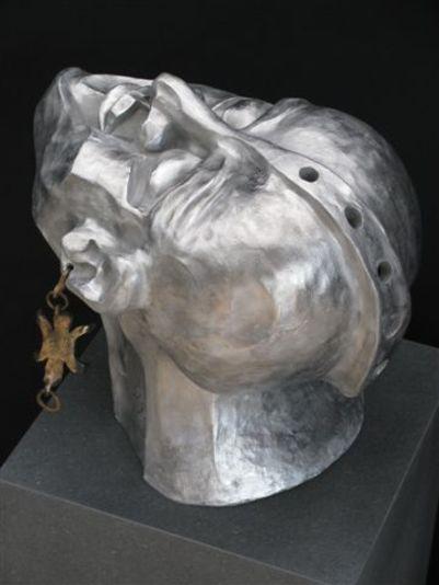 """""""Der Visionär"""" 2008 - Aluminium und Bronze - 37 cm"""