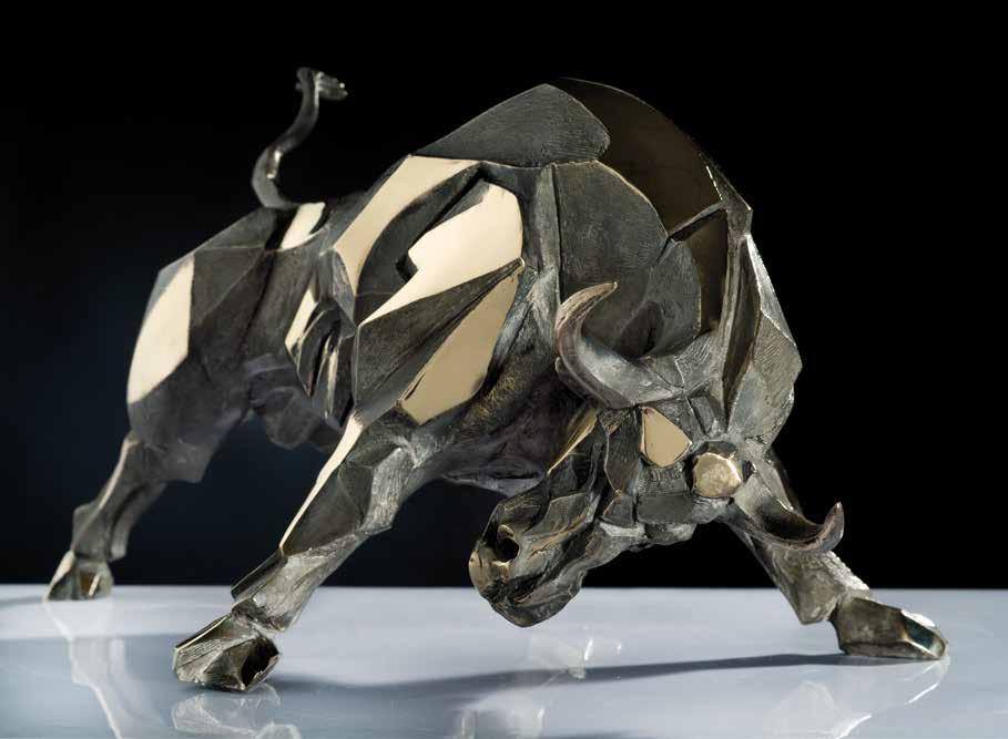 """Bull-dozer"" - Bronze 28x31x52 cm"