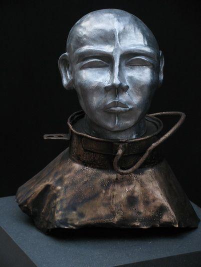 """""""Der Fahnenträger"""" 2006 - Aluminium und Bronze - 38 cm"""
