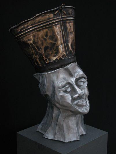 """""""Die Unbeugsame"""" 2008 - Aluminium und Bronze - 72 cm"""