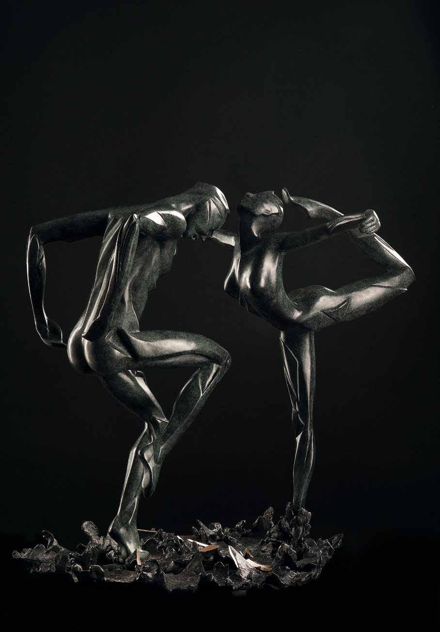 """""""Romeo e Giulietta - double dance"""" - Bronze - 75x40x35 cm"""