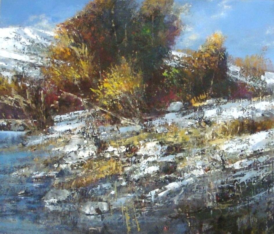 """Presto inverno"" 2010 - Öl auf Leinwand - 60x70 cm"
