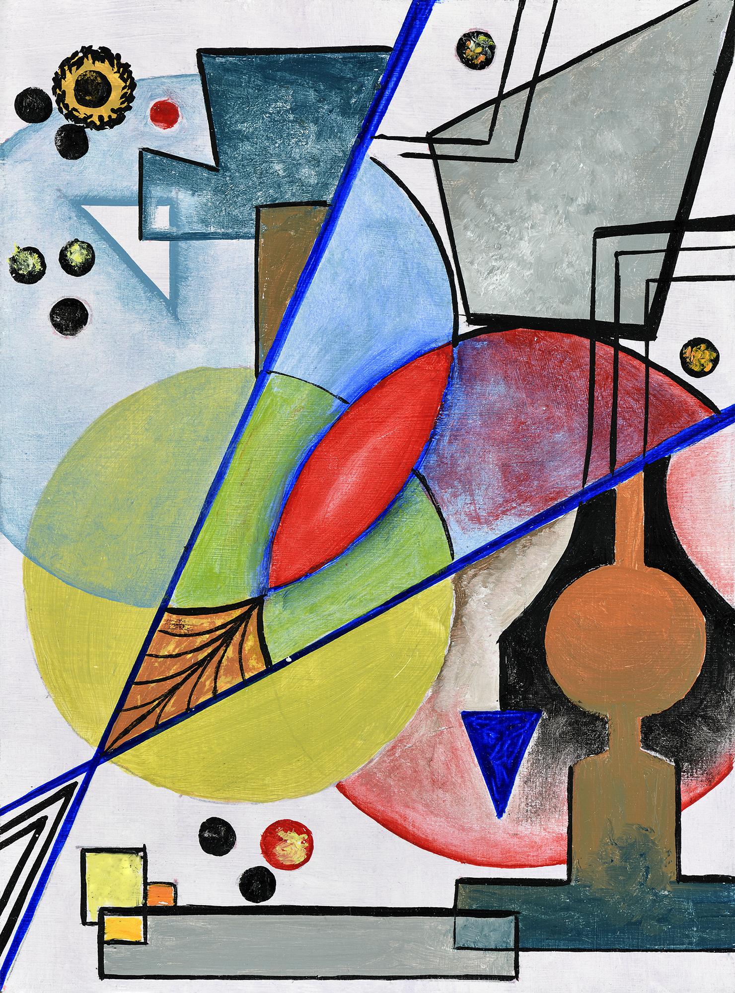 """""""Mini composition II"""" - Öl auf Leinwand - 19x12 cm"""