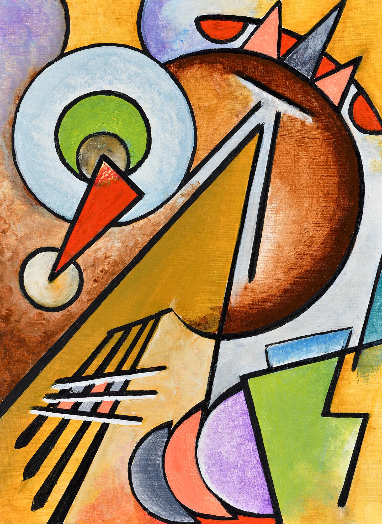"""""""Mini composition IV"""" - Öl auf Leinwand - 19x12 cm"""