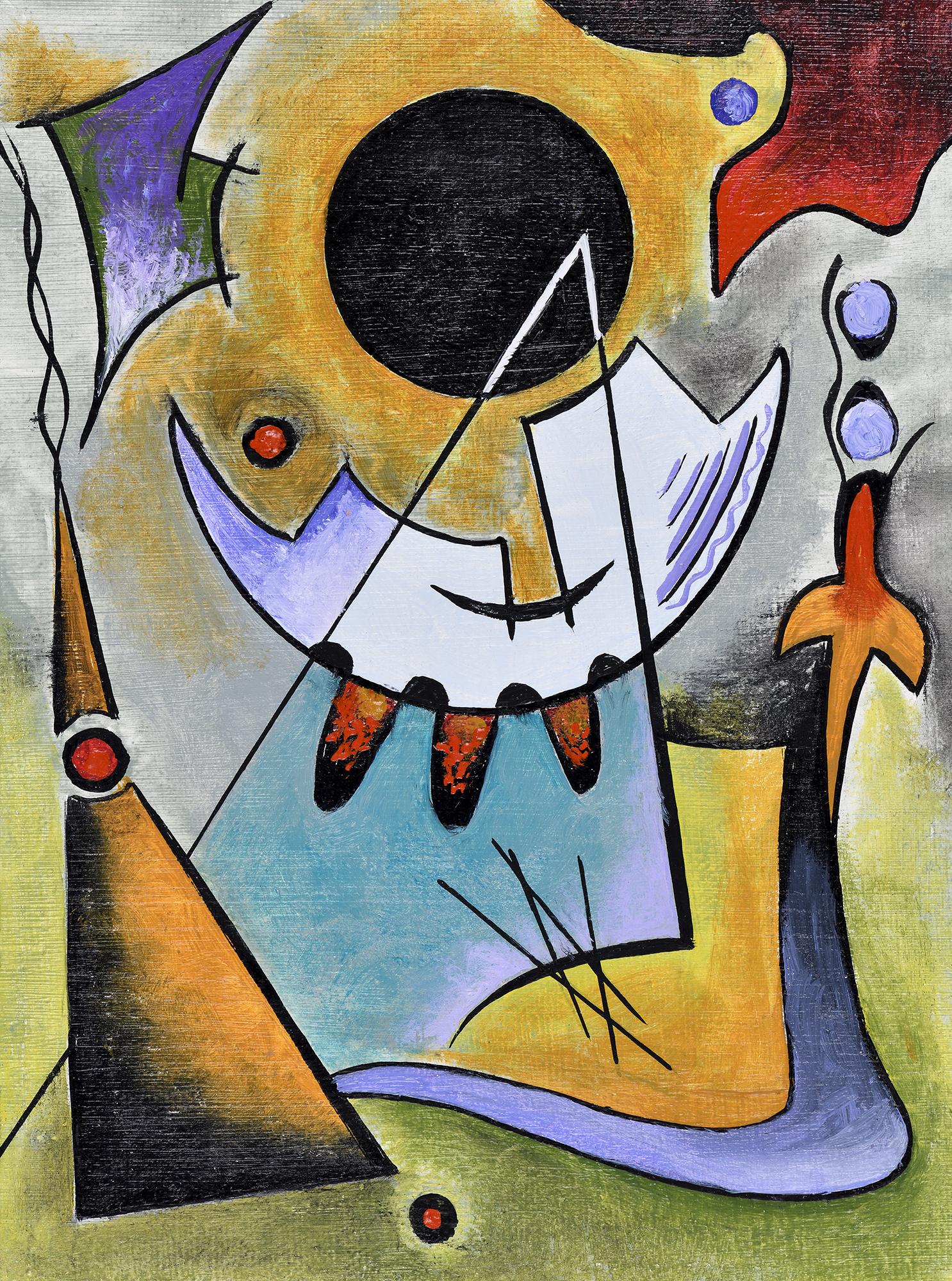 """""""Mini Composition VI"""" - Öl auf Leinwand - 19x12 cm"""
