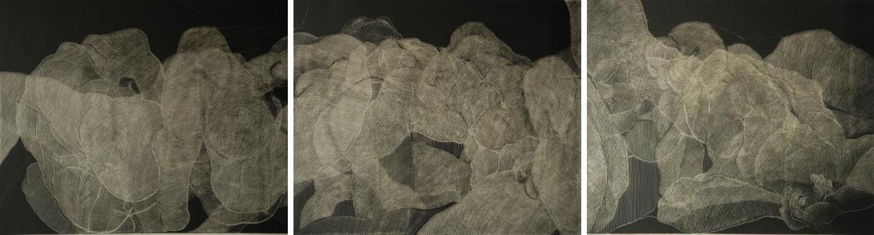 - Ritztechnik auf Acrylglas - 272x90 cm