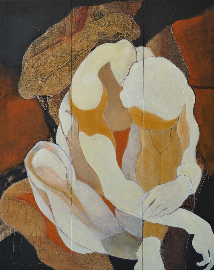 2009 Ritztechnik auf Holz - 125x96 cm