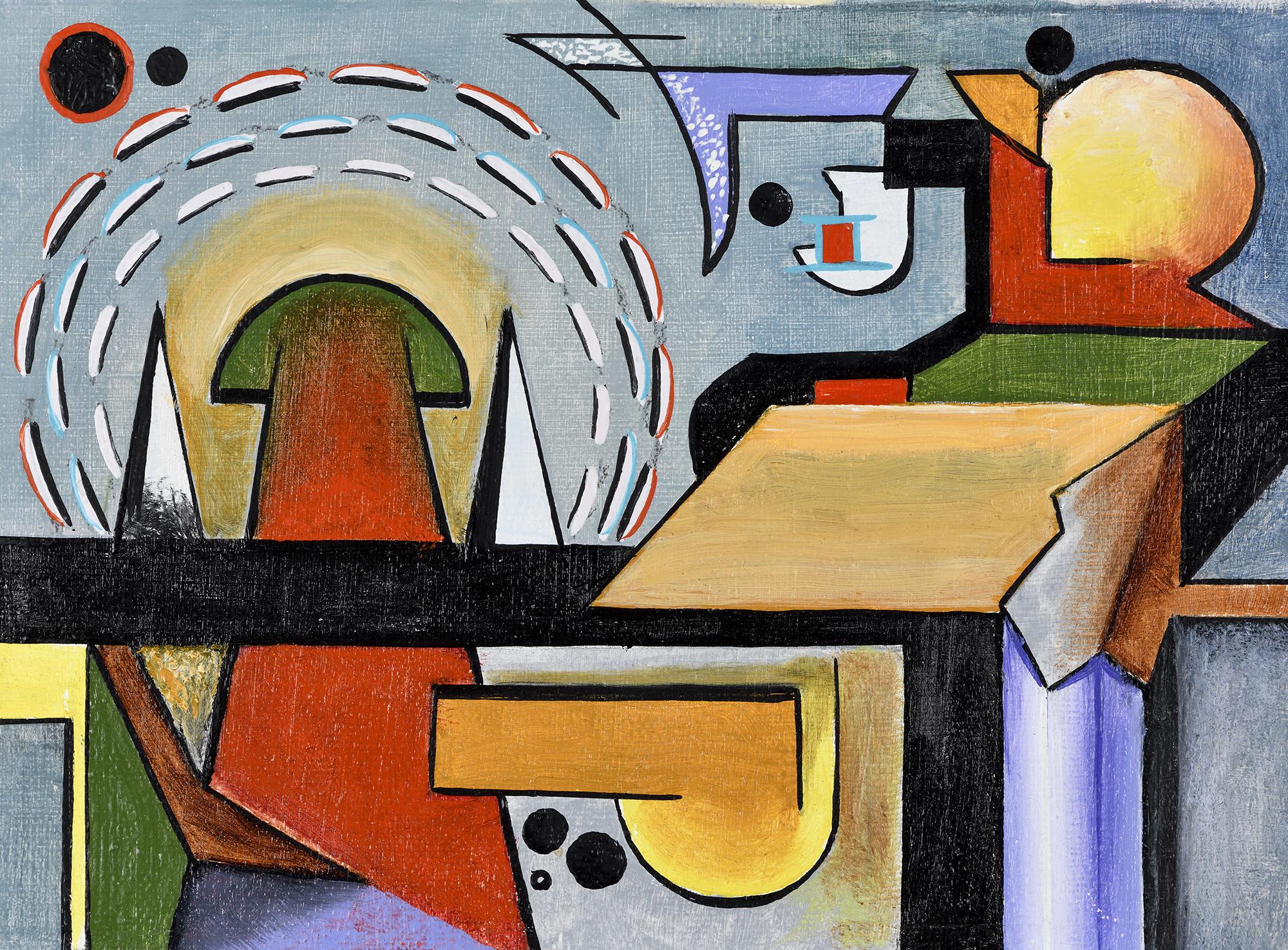 """""""Mini composition V"""" - Öl auf Leinwand - 19x12 cm"""