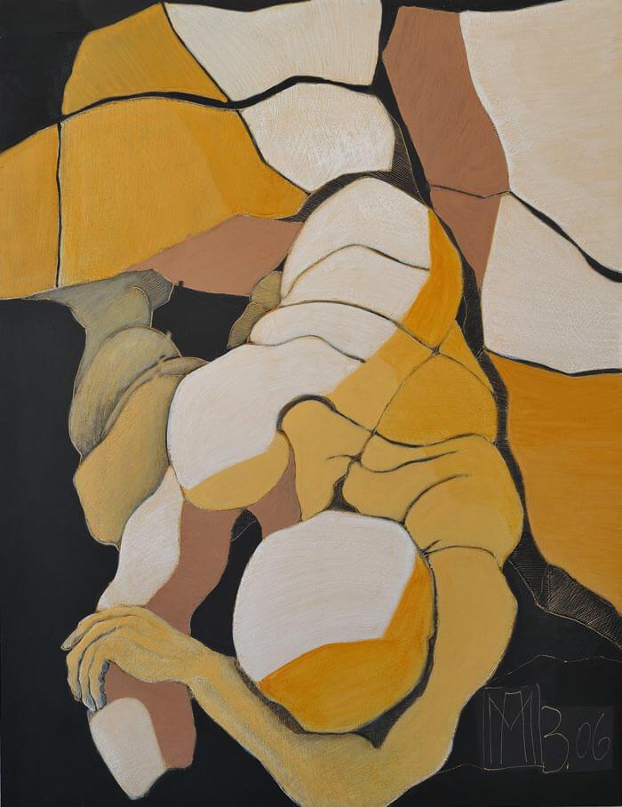 2006 Ritztechnik auf Holz - 125x96,5 cm