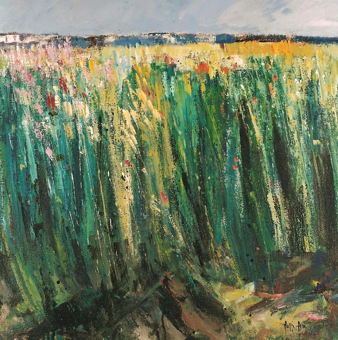"""Agosto anche Estate"" 1992 - Öl auf Leinwand - 80x80 cm"