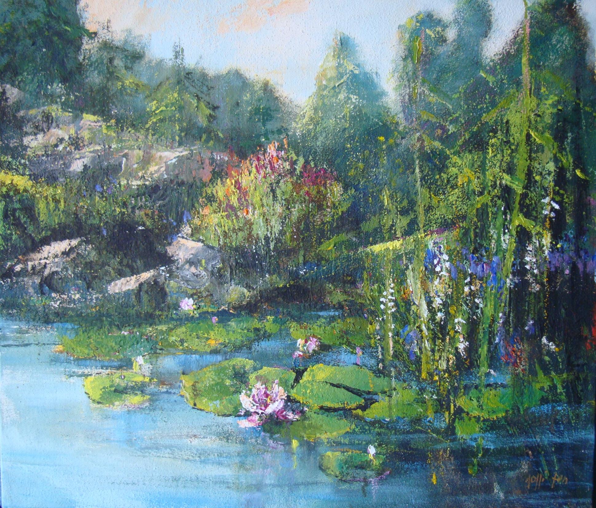 """""""Nel giardino delle Esperidi"""" 2000 - Öl auf Leinwand - 60x70 cm"""