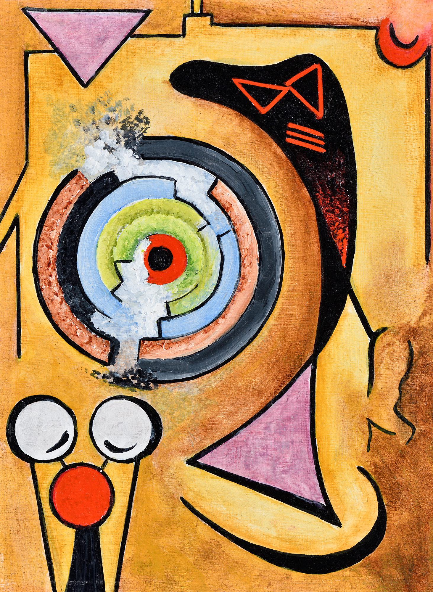 """""""Mini composition III"""" - Öl auf Leinwand - 19x12 cm"""