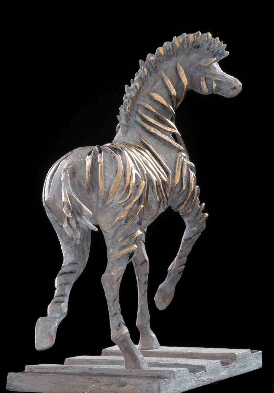 """Zebra crossing"" - Bronze - 30x27x12 cm"