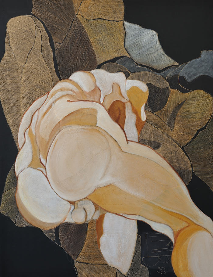 2009 Ritztechnik auf Holz - 125x96,5 cm