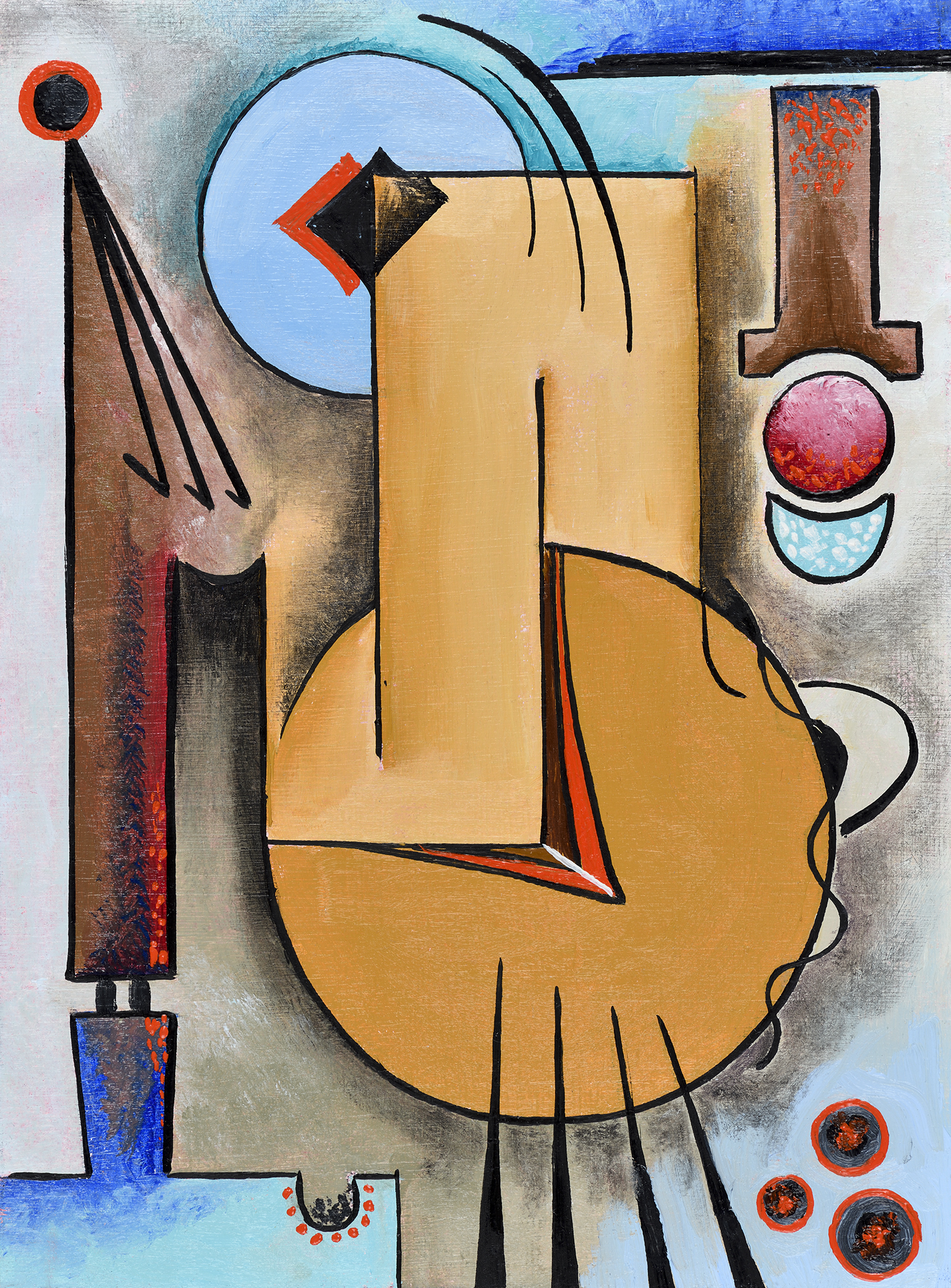 """""""Mini composition X"""" - Öl auf Leinwand - 19x12 cm"""