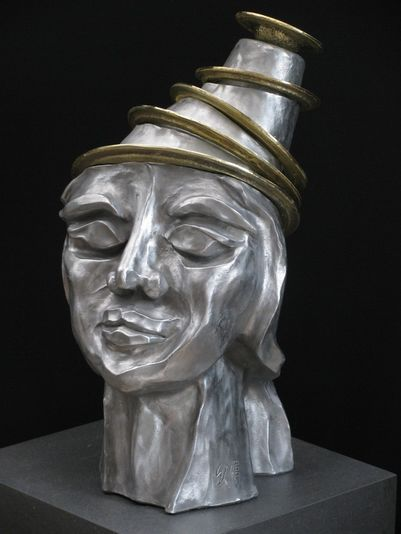 """Der Alchemist"" 2008 - Aluminium und Messing - 52 cm"