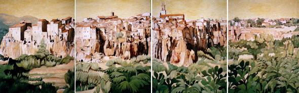 """""""Pidiliano"""" 2004 - Erdfarben auf Leinwand - 670x160 cm"""