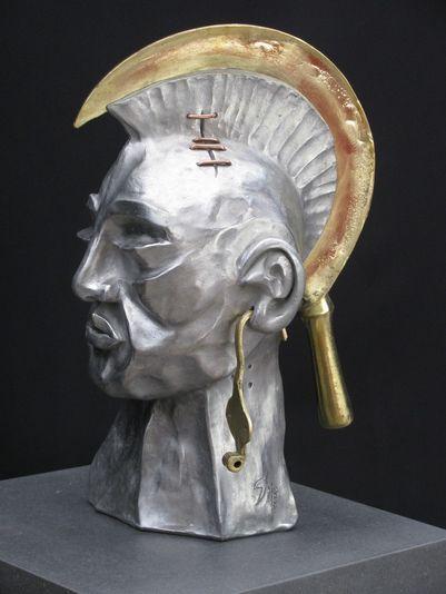 """""""Irokese"""" 2006 - Aluminium und Bronze - 40 cm"""