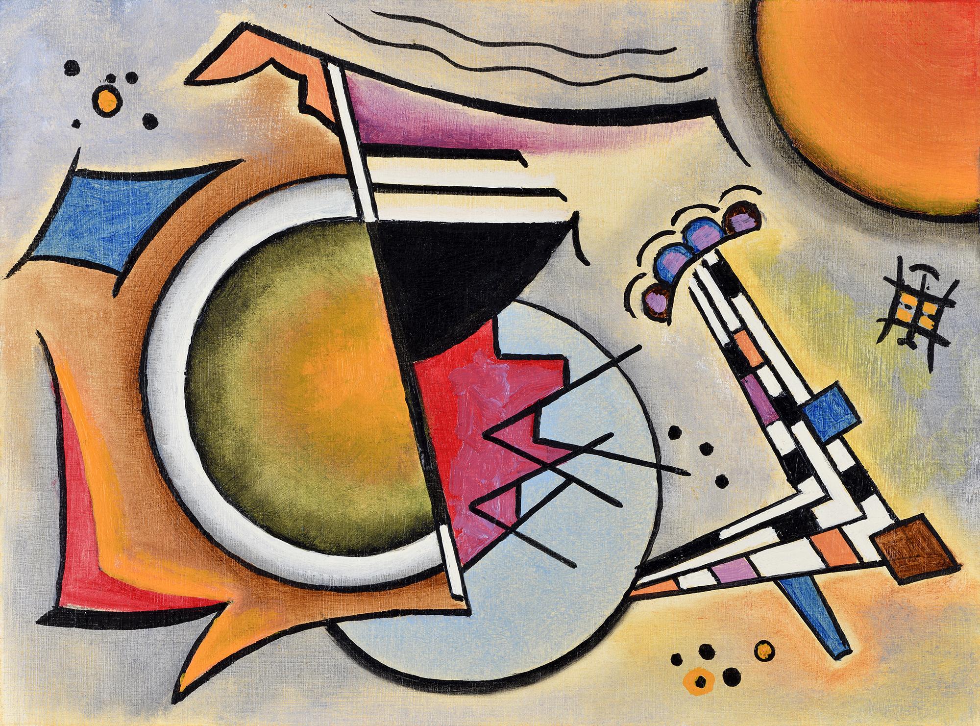"""""""Mini composition IX"""" - Öl auf Leinwand - 19x12 cm"""
