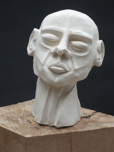 """""""Der Wissende"""" 2006 - Ton - 27 cm"""