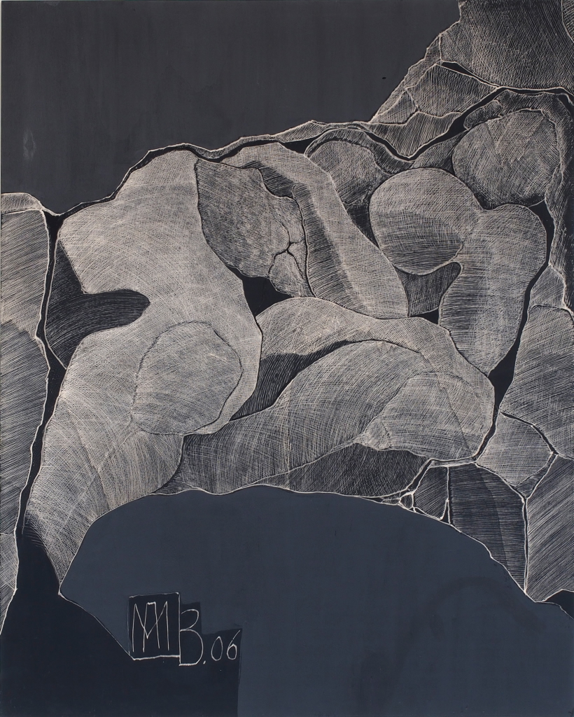 2006 Ritztechnik auf Holz - 125x100 cm