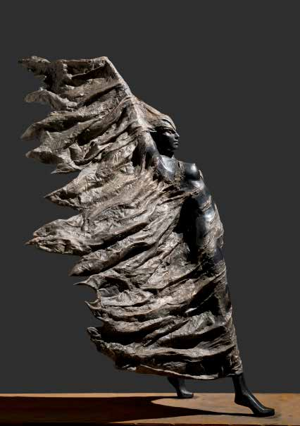 """Sesazioni di vento celate"" - Bronze - Lebensgroß"