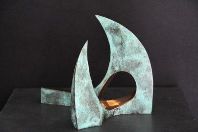 """""""Freestyle"""" 2012 - Bronze patiniert und poliert - 22x25x22 cm"""