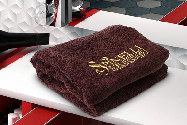 Asciugamano 50x90 colore marrone ANTIMACCHIA spugna di cotone senza minimi quantitativi anche con il tuo logo ricamato